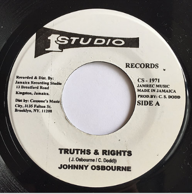 Johnny Osbourne(ジョニーオズボーン) - Truths & Rights【7'】