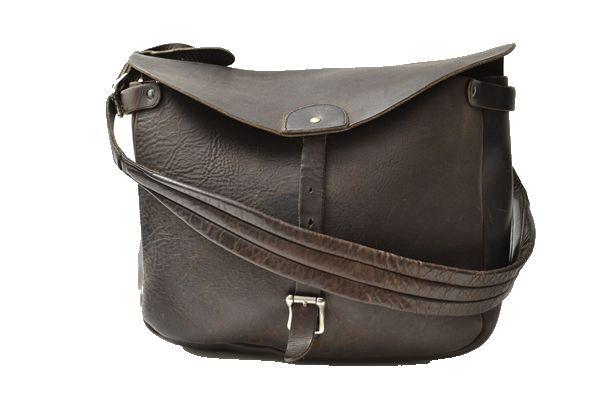 RRL leather sholder bag brown