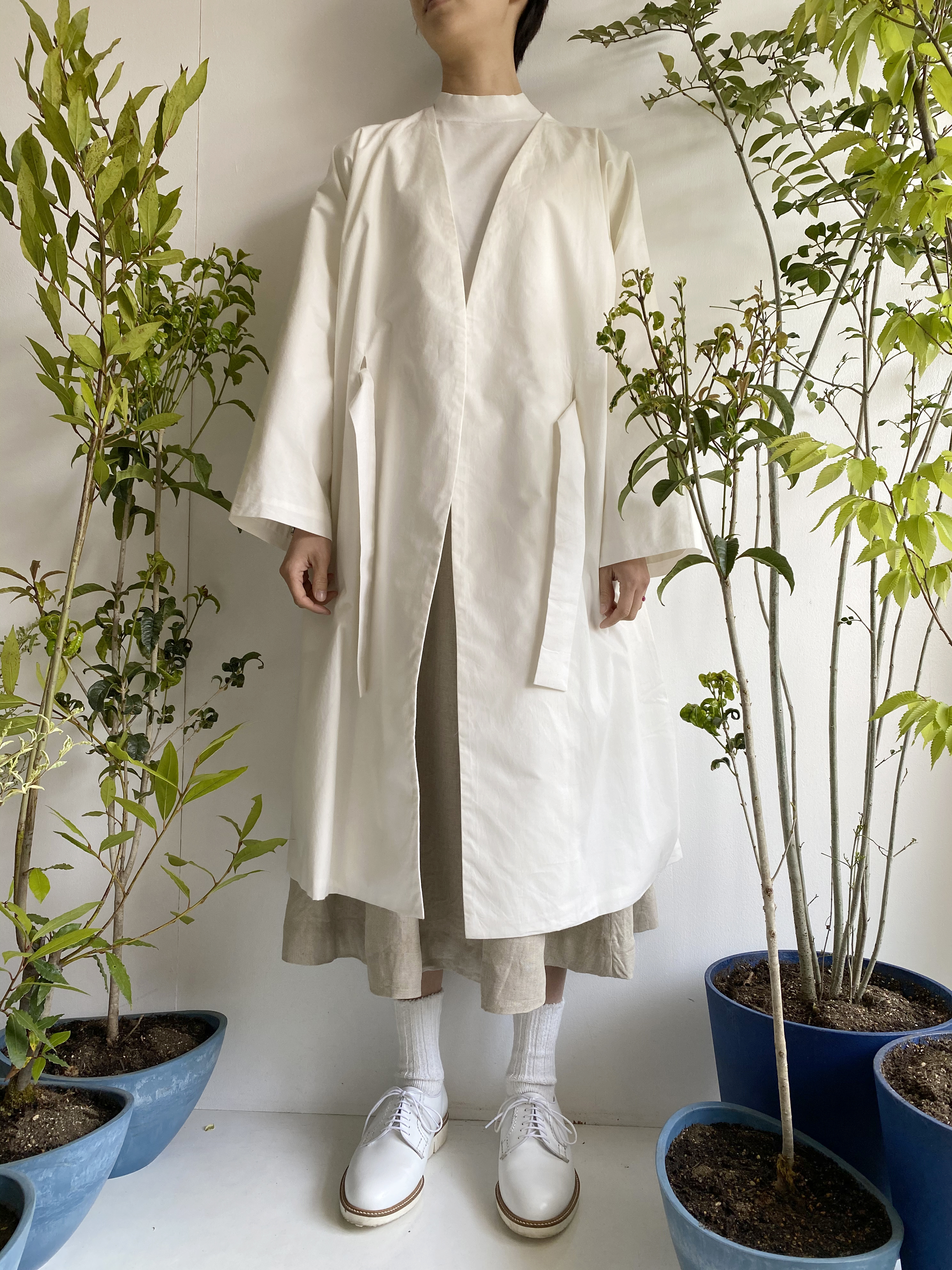 "Gown Coat ""white"" organic cotton"