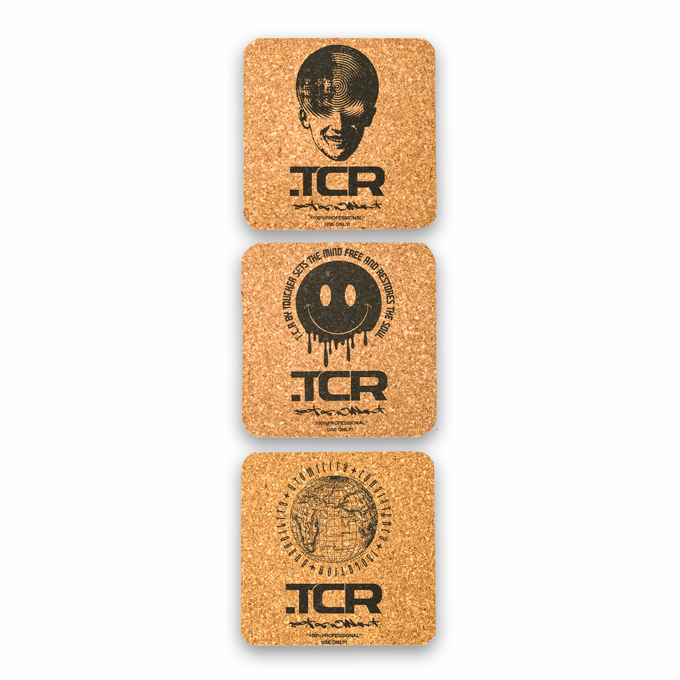 T.C.R CORK COASTER - 3PACK