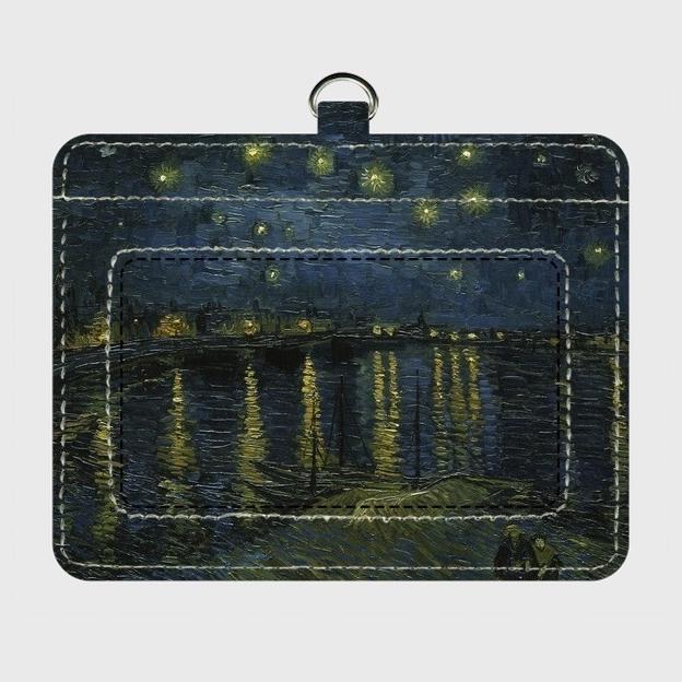 ゴッホ「ローヌ川の星月夜」 パスケース