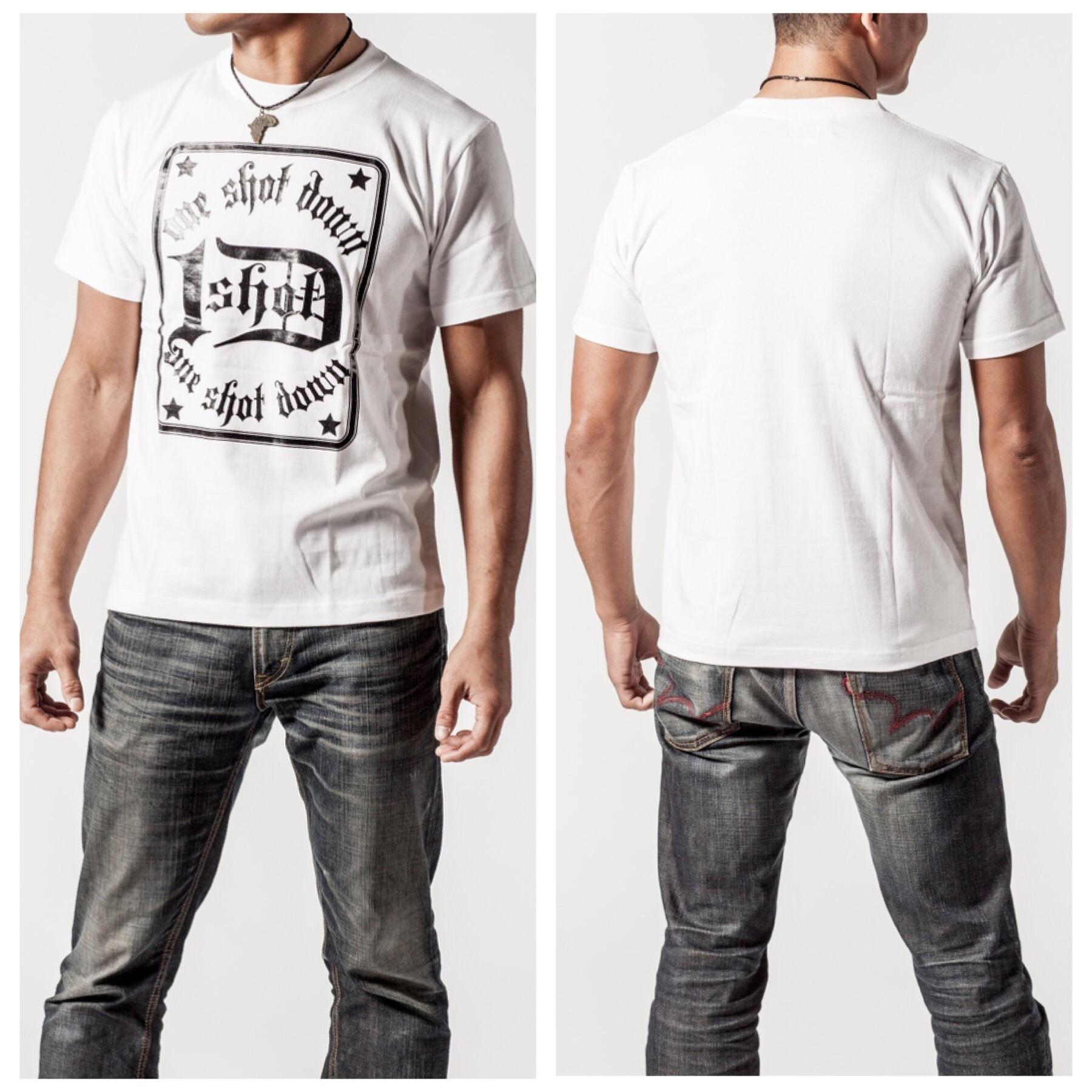 ONESHOTDOWN トランプスタイル デザイン Tシャツ - 画像3