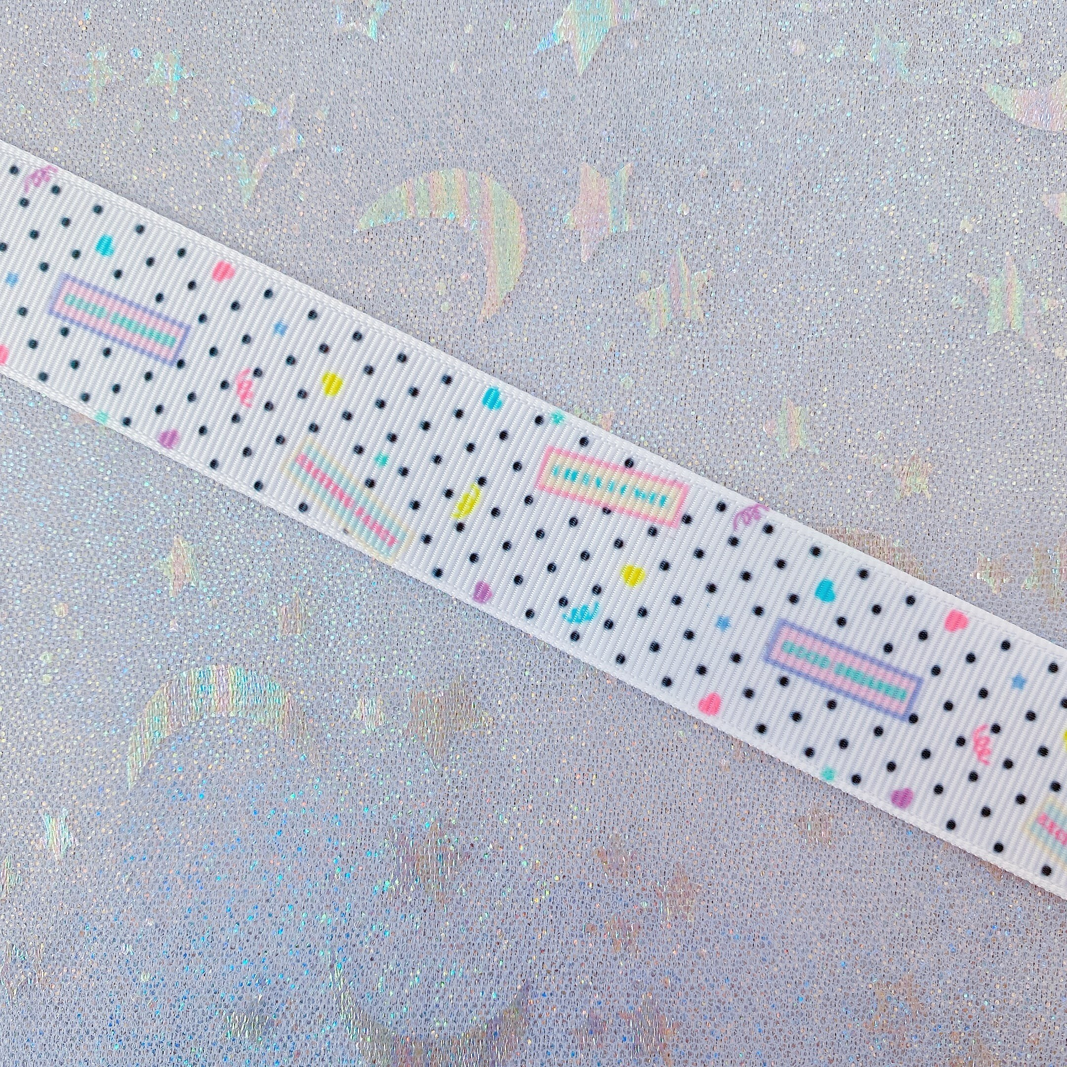 オリジナルデザイン グログランリボン 25mm