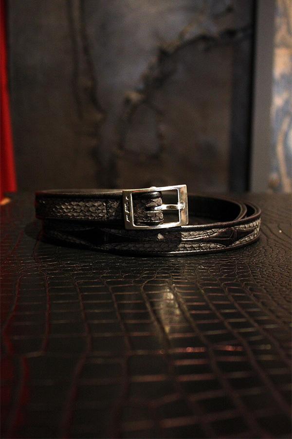 Item No.0061:Rizard Head×Bill Wall Leather SAMURAI Collection Limited Nallow Belt PLAIN [SE-SHU]-雪舟 【World Ltd 20pcs】