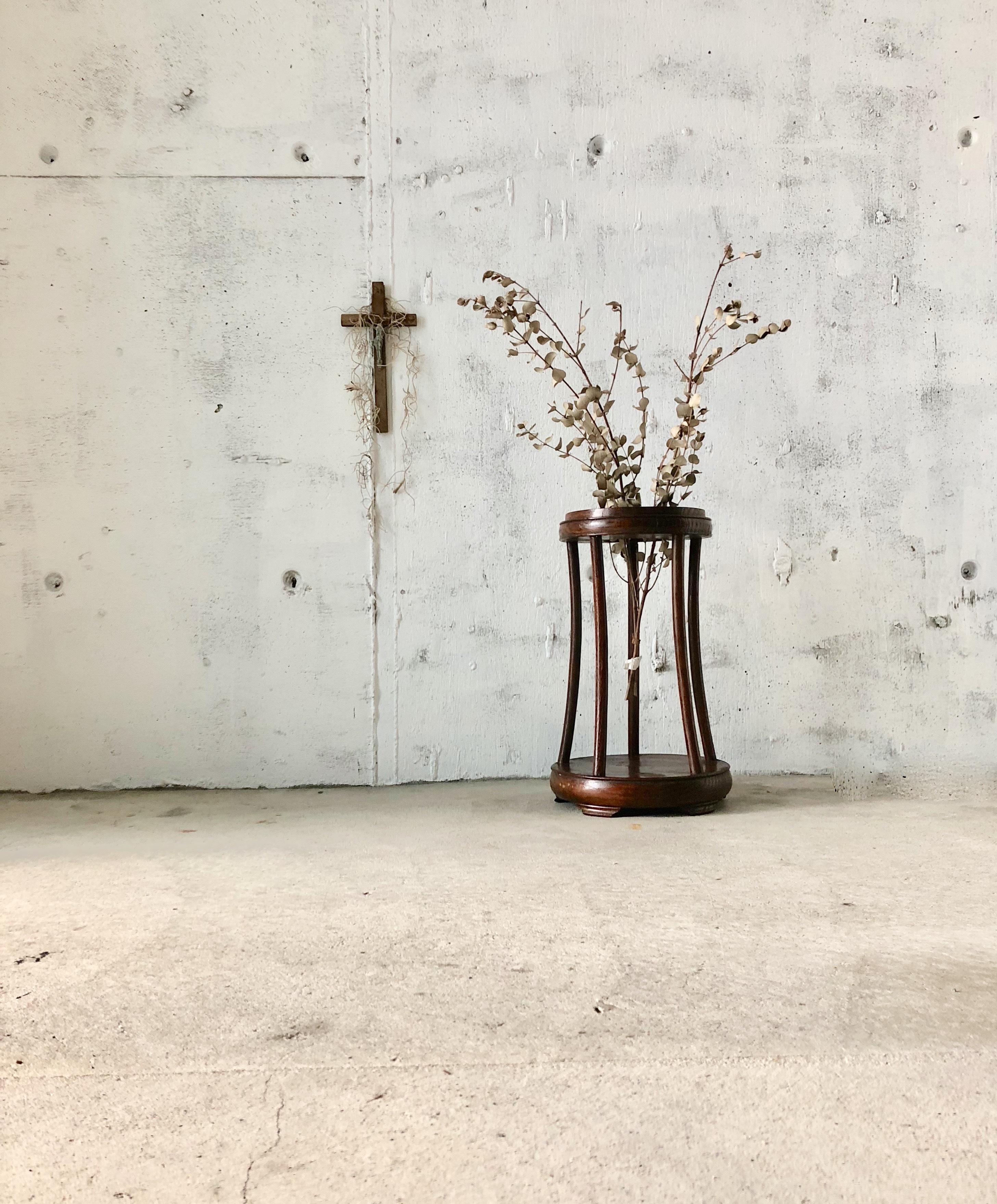 木製の花台[古家具]