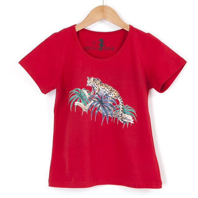 サファリTシャツ 赤