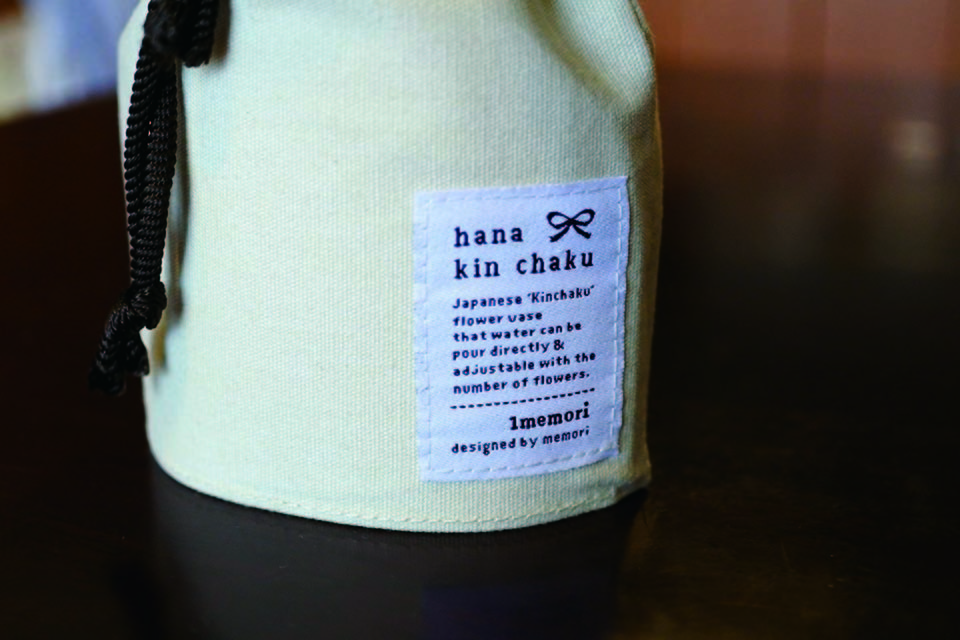 花巾着 CANVAS  S ナチュラル - 画像5