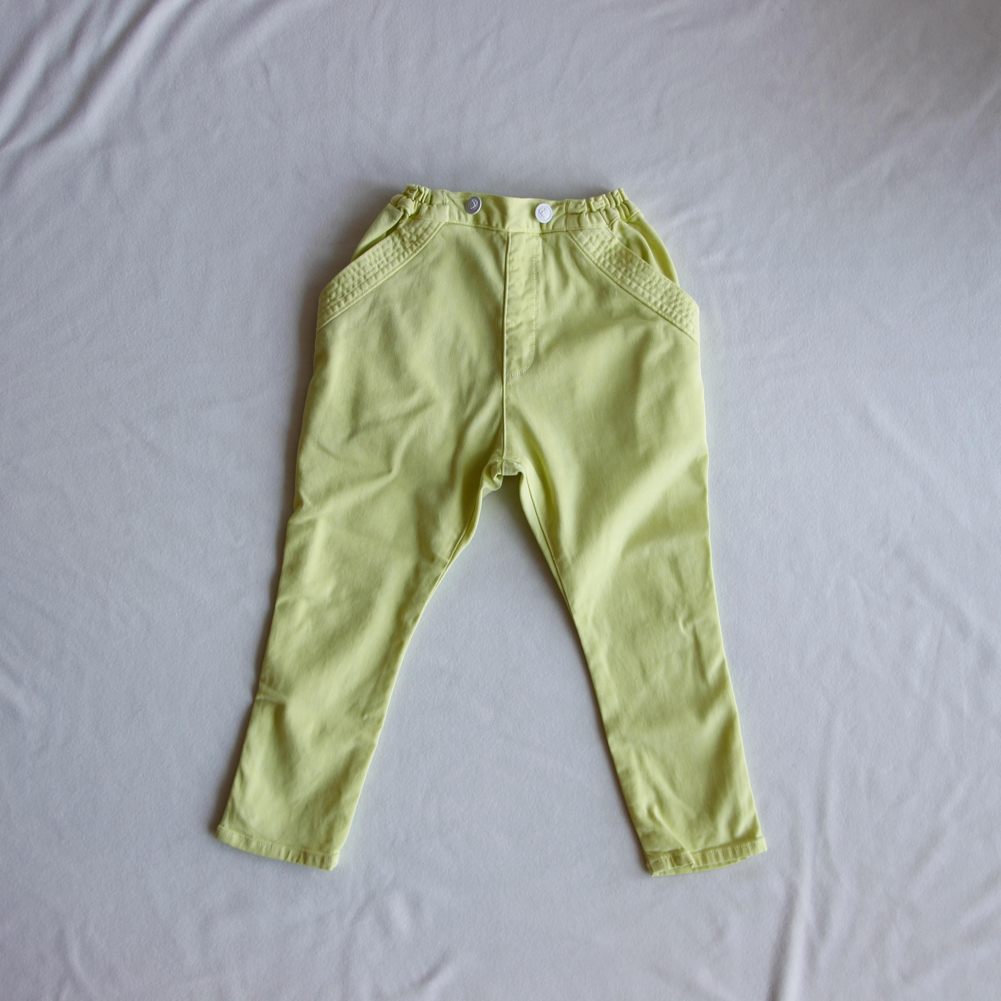 《cokitica 2017SS》sarrouel denim U-pants / yellow / XS・S