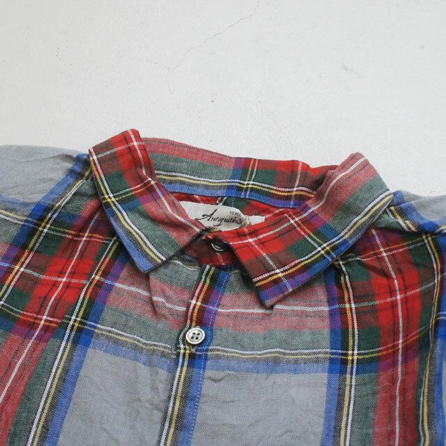 ICHIAntiquites イチアンティークス LINEN TARTAN CHECK SHIRT リネンタータンチェックシャツ レディース シャツ リネン チェック 長袖 通販 (品番500312)