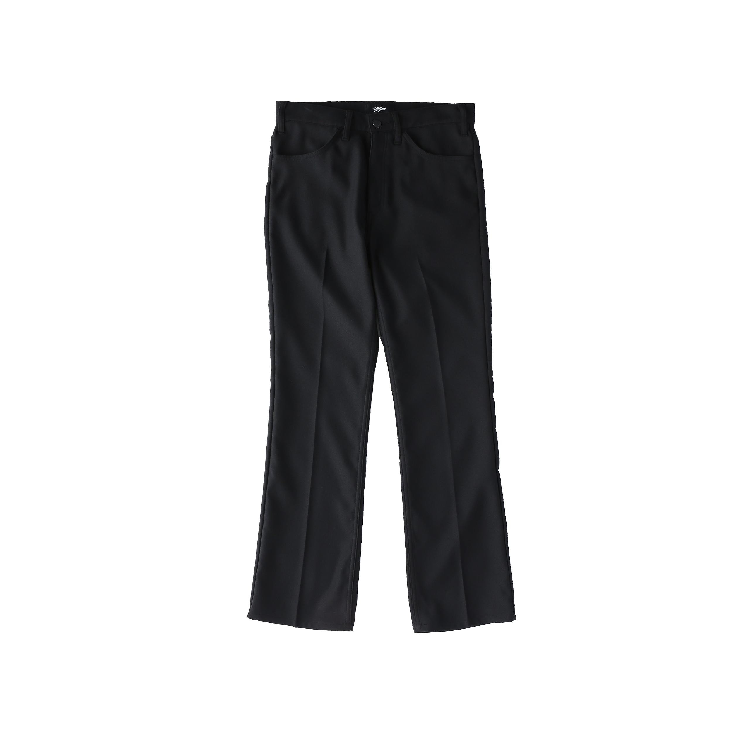 Wappen boot-cut pants / BLACK - 画像1