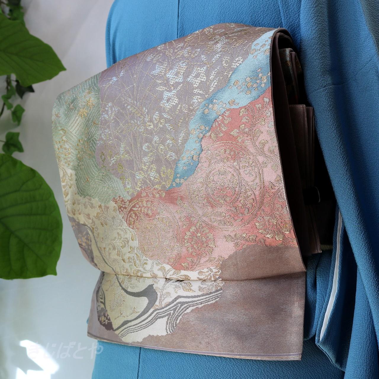 正絹 嵯峨鼠の袋帯