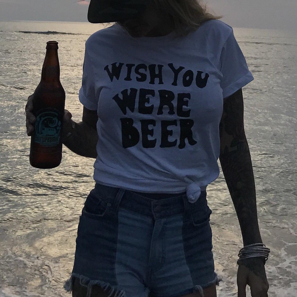 Wish You Were Beer Clark Tee