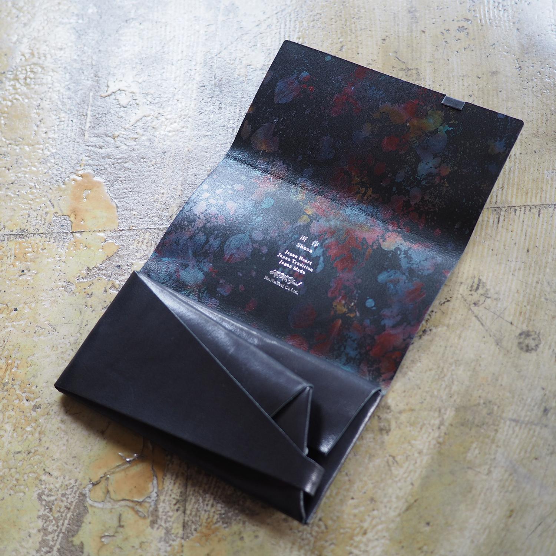 孔雀色の所作。(ブラック×オーロラペイント)<所作・長財布>