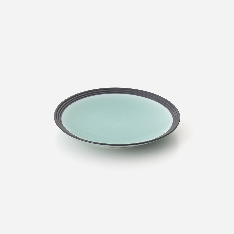 青磁黒彩 5寸平皿