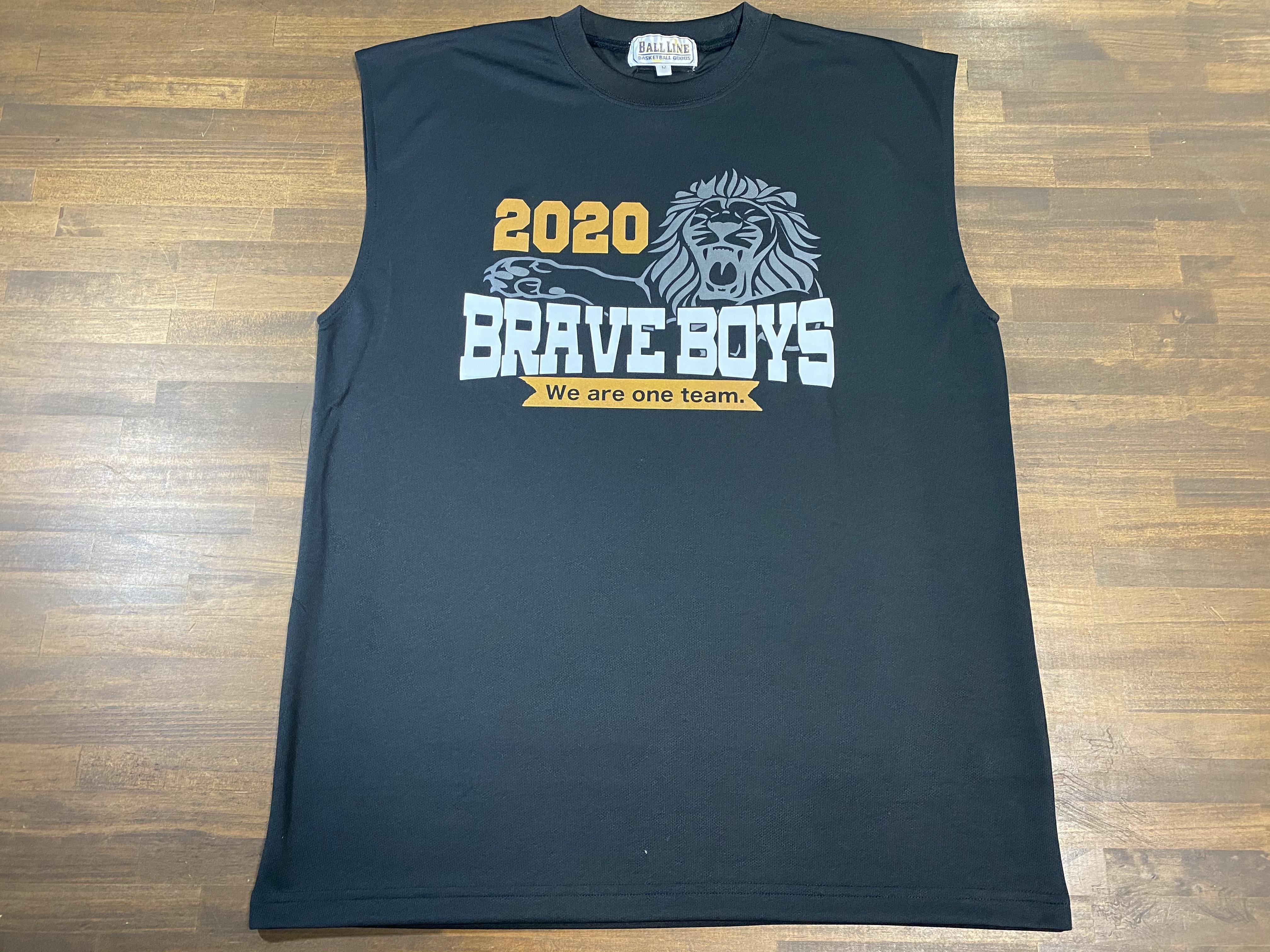 【デザインサンプル】隈之城BRAVE BOYS  (U12・男子)  スリーブレスシャツ