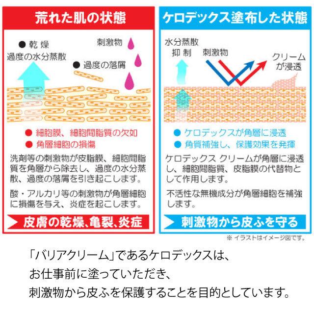 手荒れでお困りの方に!【ケロデックス皮膚保護クリーム】100gチューブタイプ業務用 皮膚保護クリームKERODEX - 画像5
