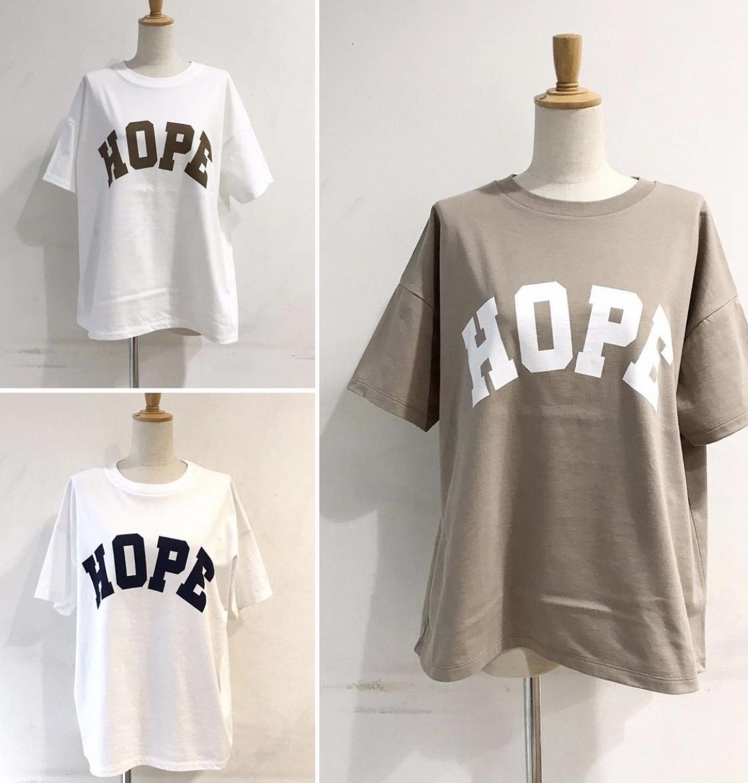 4月下旬入荷●【 siro de labonte 】- R123211 - HOPEワイドTシャツ