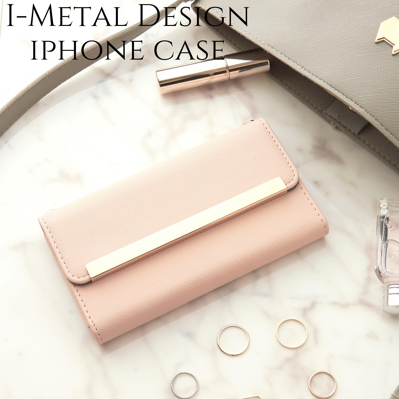 iphone ケース 手帳型 ミラー付き iphone8  XR カバー 手帳 かわいい iphone11 iphone 11Pro Xs max おしゃれ サフィアーノレザー風 アイフォン 11 プロ シンプル 大人 可愛い スタンド ヌーディー