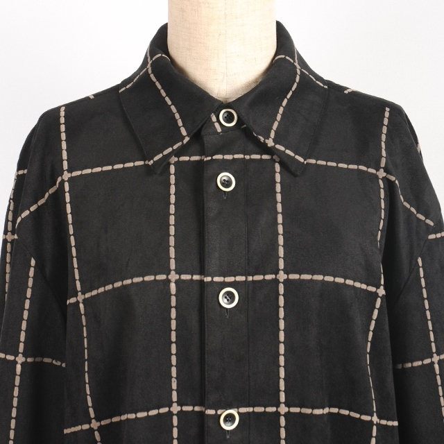 hs18AW-IR03 BASIC SHIRT-F/LEATHER
