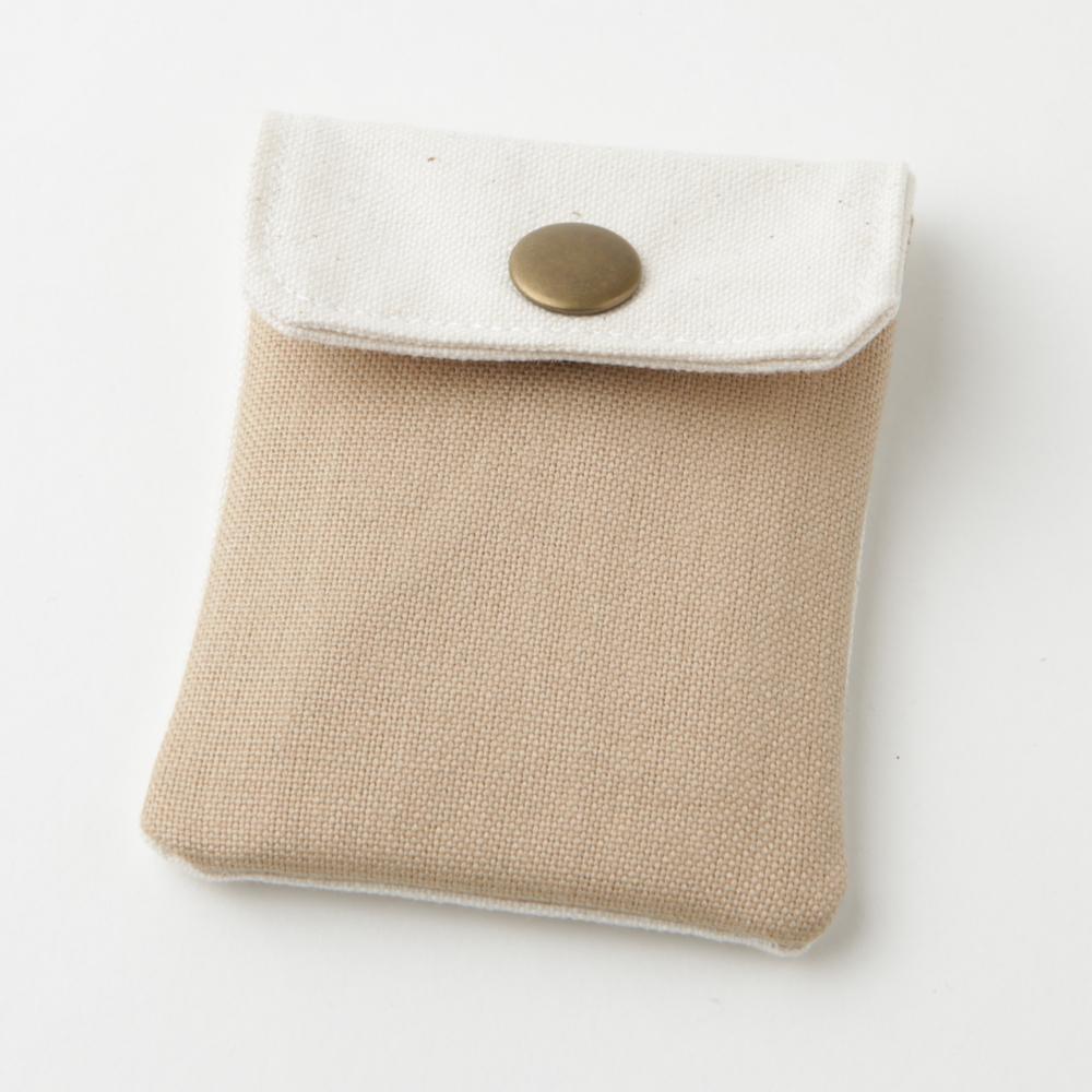 携帯灰皿 おしゃれ かわいい 帆布 ハンプ ベージュ 48053 熟練職人のハンドメイド インナーリフィル合計2個付属 日本製
