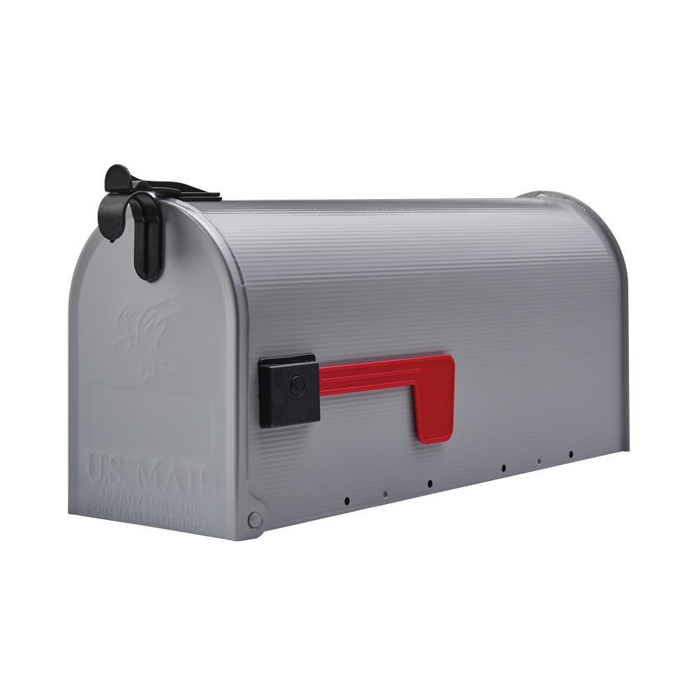 Grayson Gray Steel Medium Post-Mount Mailbox