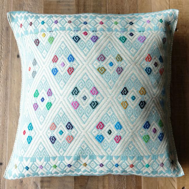 ララインサール村の手織りクッションカバー /215c/ MEXICO メキシコ