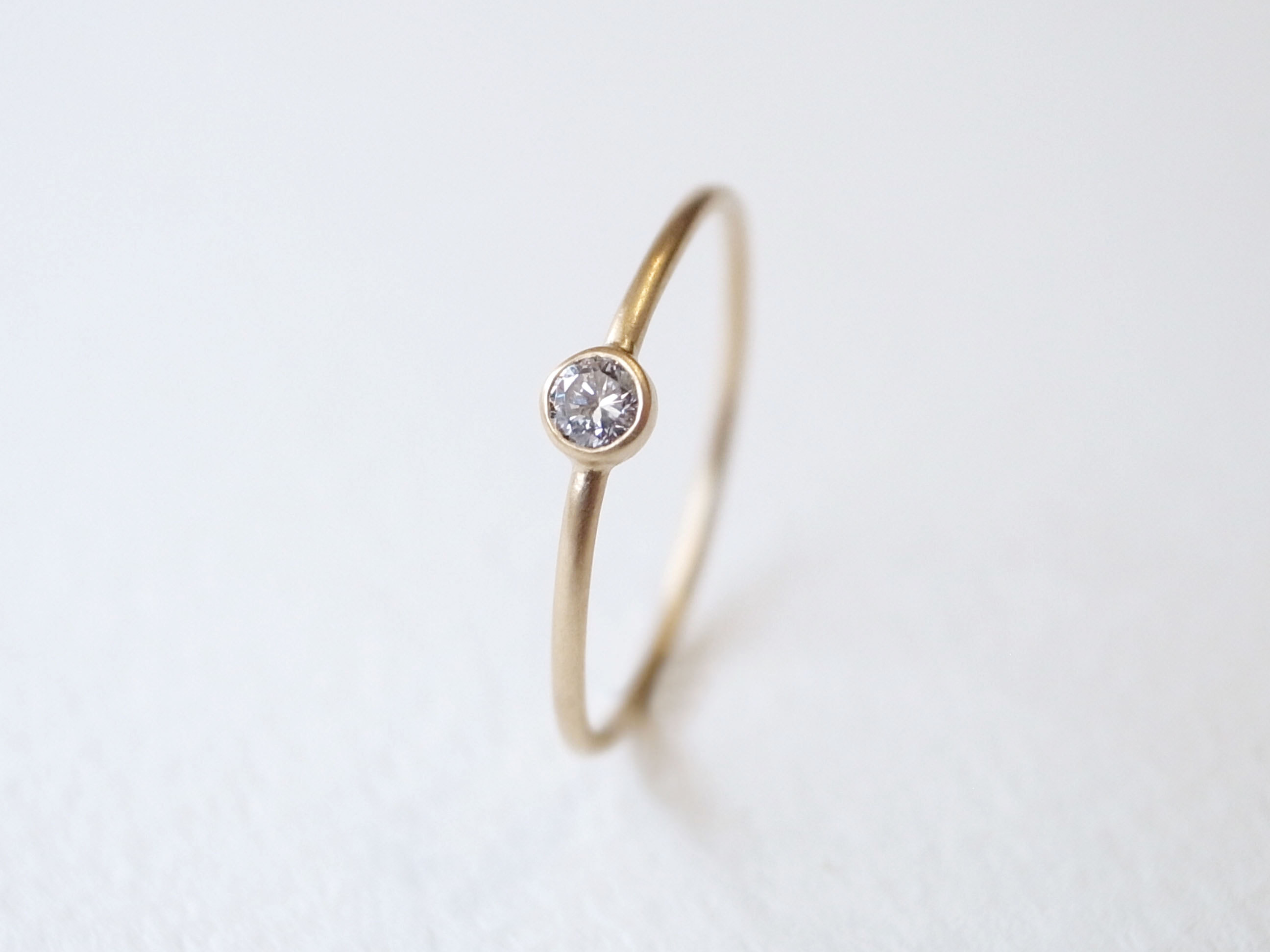 K18YG Diamond/2.5round grain ring