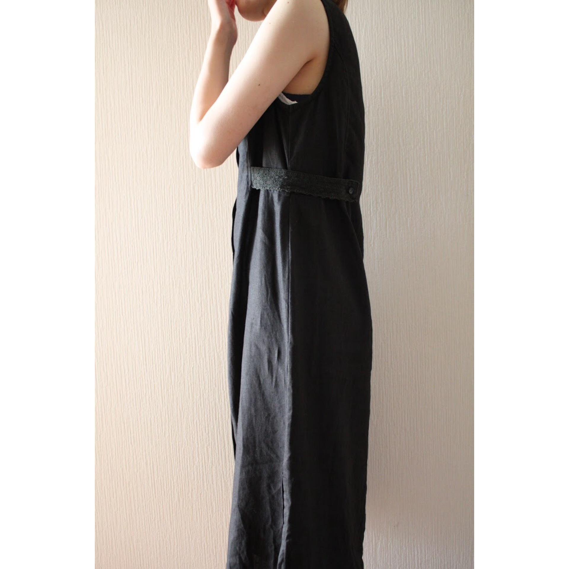 Vintage linen sleeveless dress