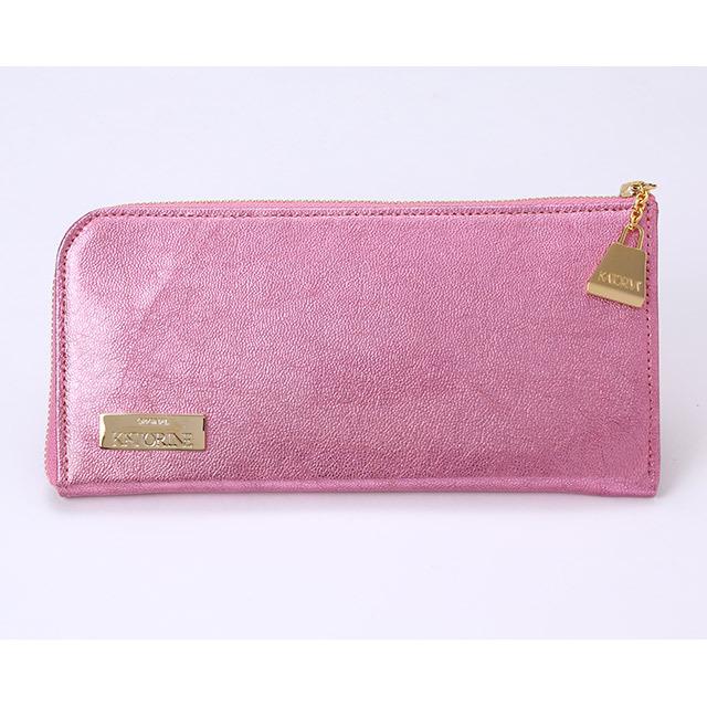 ゴードエナメルL型F束入れ(ピンク)