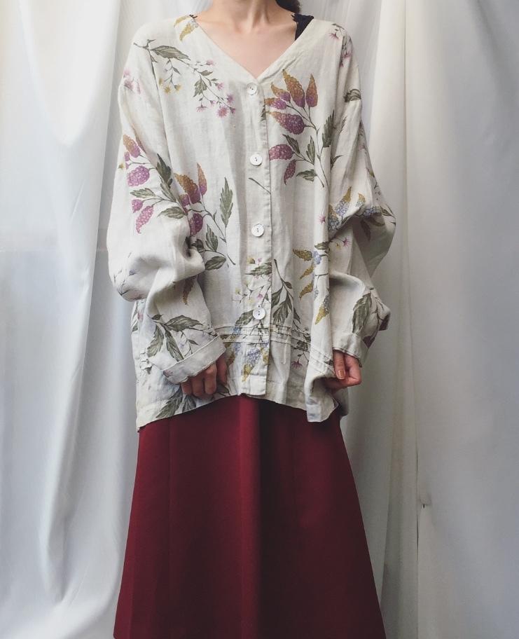 vintage flower cotton outer