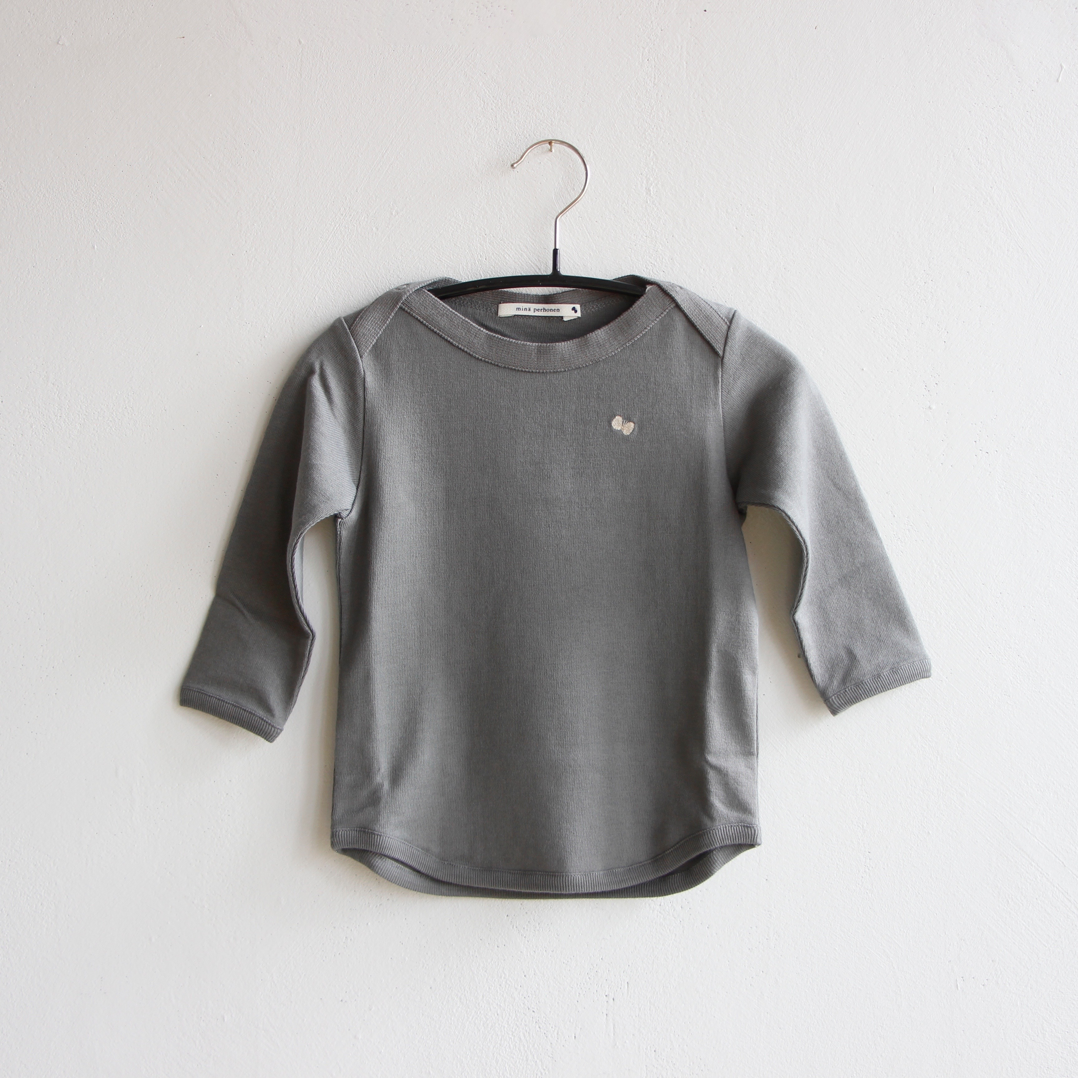 《mina perhonen 2020AW》zutto 長袖カットソー / gray / 110cm