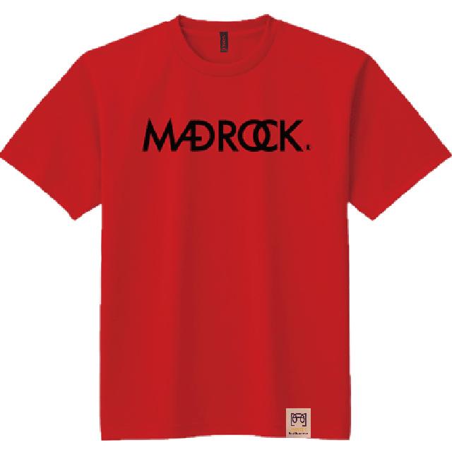 マッドロックロゴ Tシャツ/ドライタイプ/レッド
