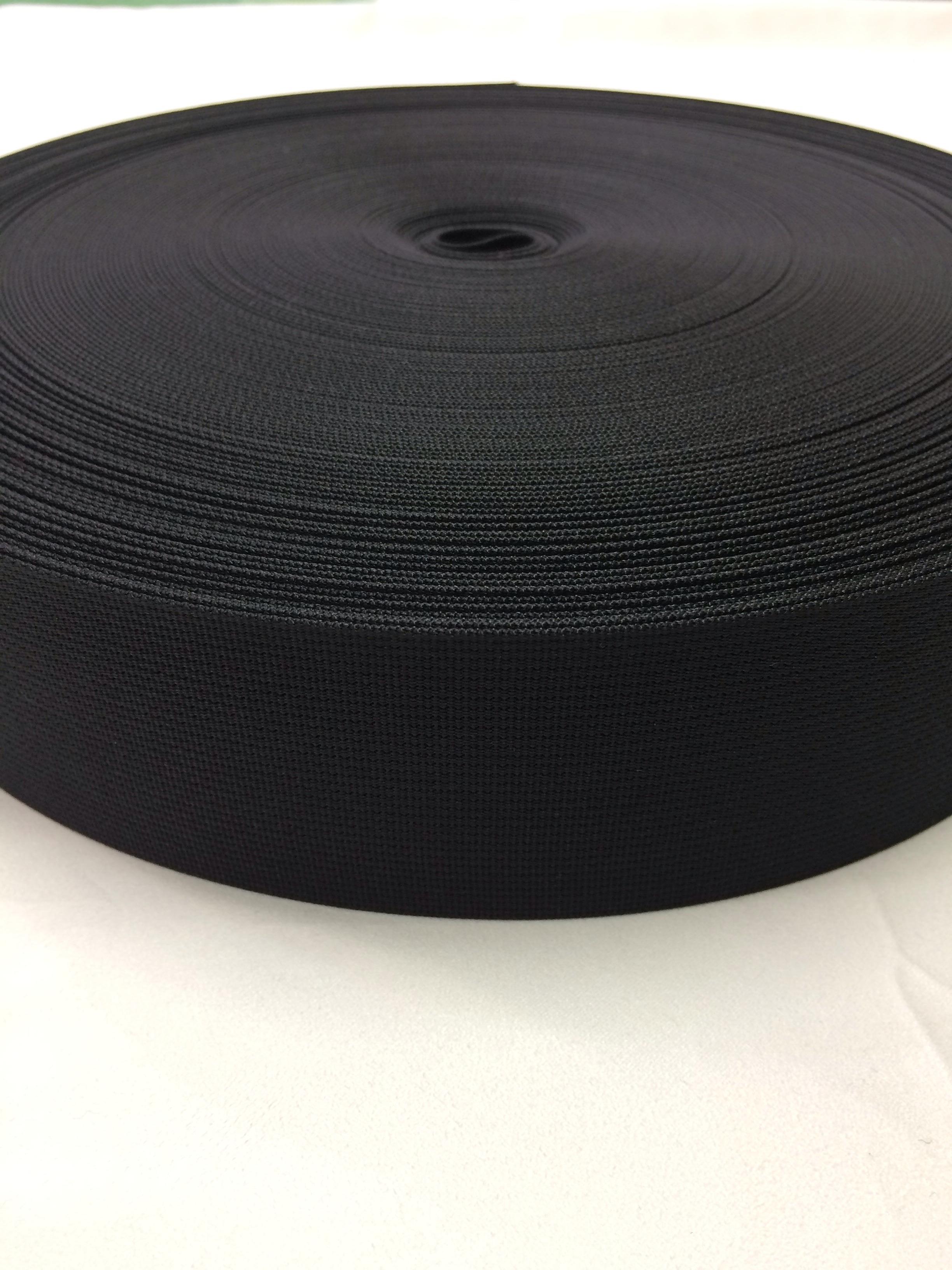 数量限定sale ショルダーベルトに最適な ナイロン ベルト 高密度 50mm幅 1mm厚 黒 1反(50m)
