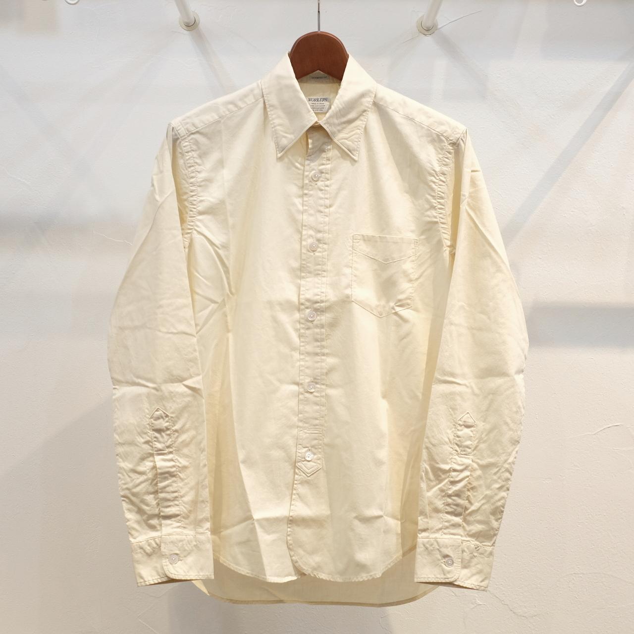 Workers(ワーカーズ) Lot20 ヒドゥンボタンダウンシャツ エクル