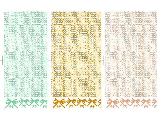 ツイード&リボン 3色セット【割引】(ポーセリンアート用転写紙)