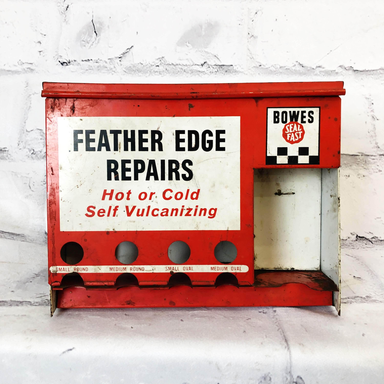 品番2239 タイヤ修理キット BOWES FEATHER EDGE REPAIRS 工具箱 レッド インテリア ディスプレイ ヴィンテージ