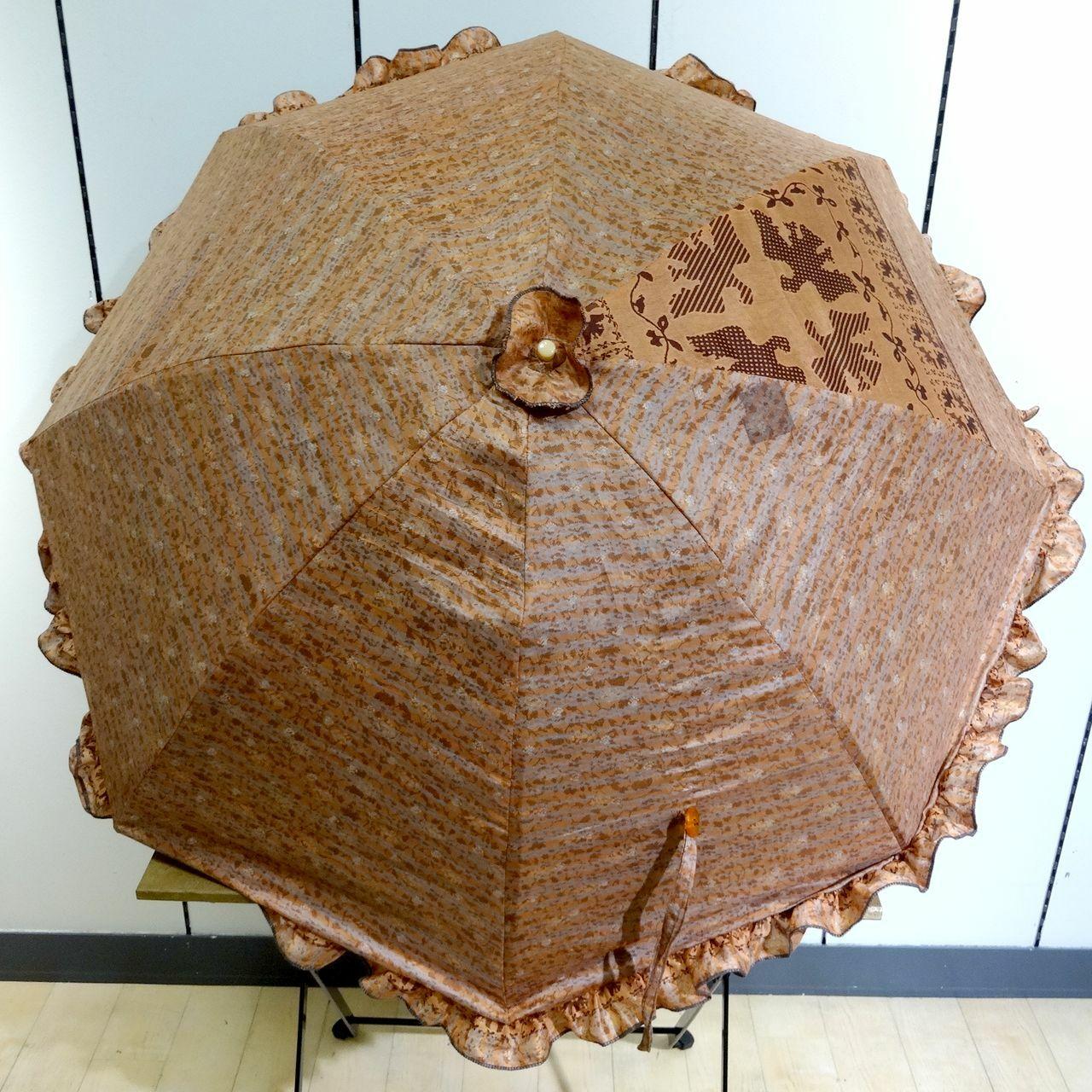 saripn-006 新型シルクサリー パラソルカバー【八咫烏】折畳傘本体・共布バッグ付き