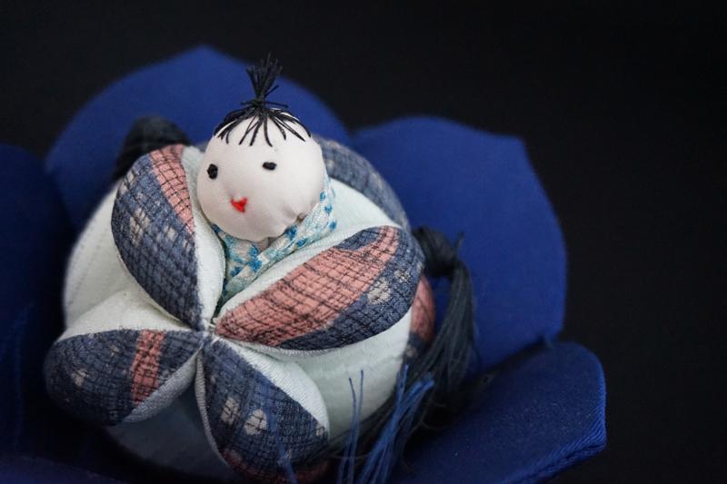 着物、和服の古布人形「花人形・男の子」 - 画像1
