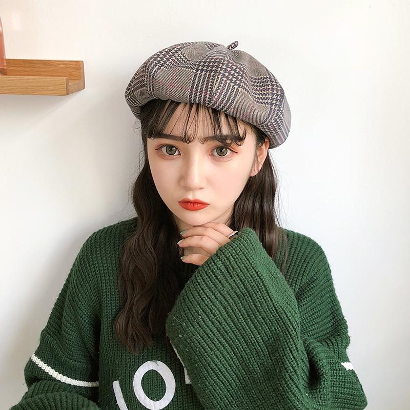 【送料無料】ワンランク上のコーデに♡ ベレー帽 チェック柄 帽子