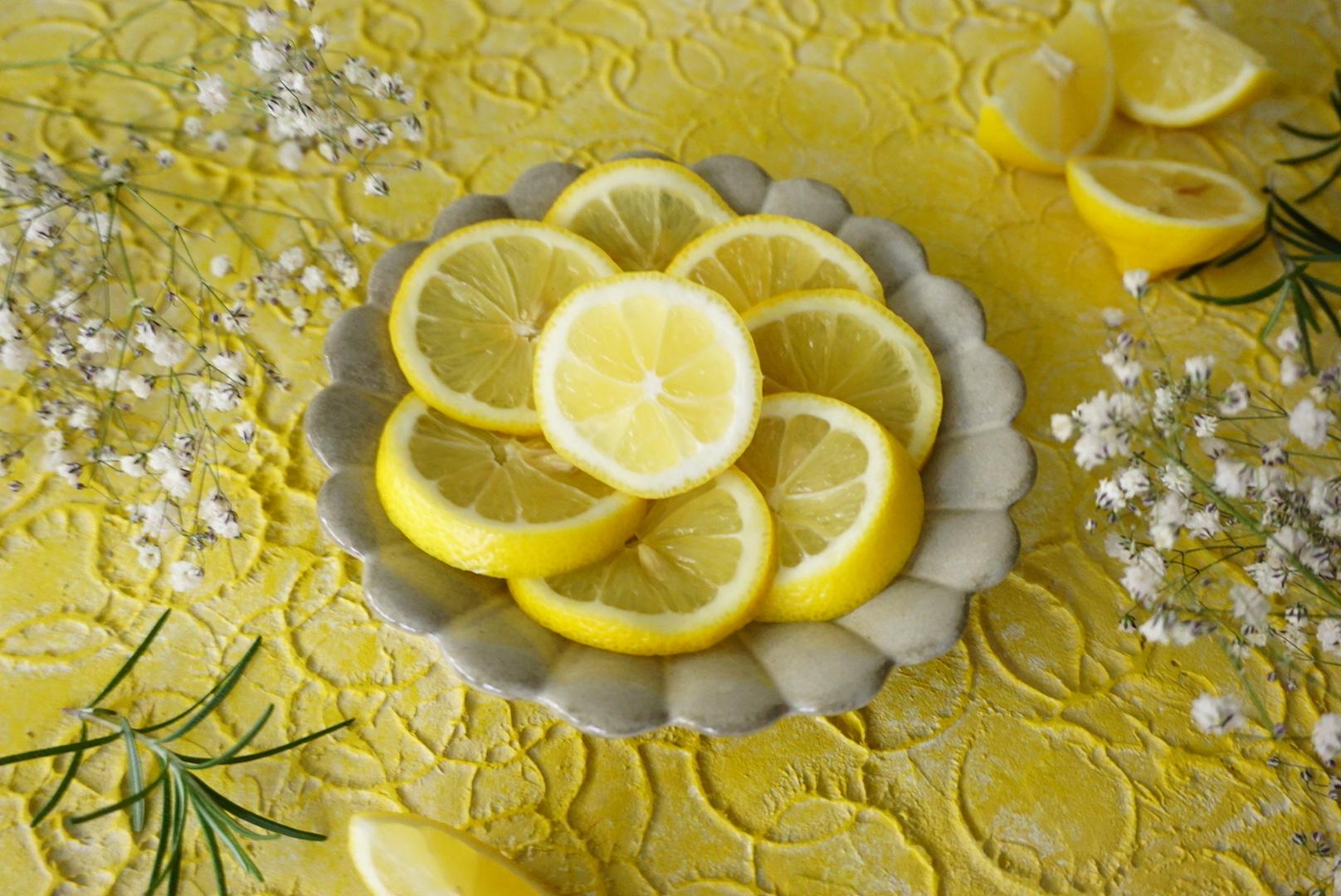 フレッシュレモネード60㎝ 北欧テキスタイル のような 漆喰系 黄色 写真撮影用 背景 スタイリングボード イエロー 大阪