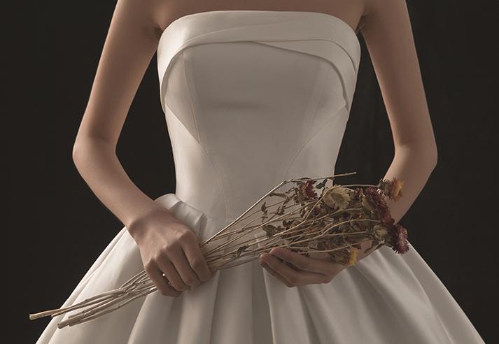 【DearWhite】ウェディングドレス Aライン プリンセス エンパイア デコルテ 結婚式 披露宴 二次会 パーティーウェディングドレス_サイズオーダー格安オーダーメイド DW0007