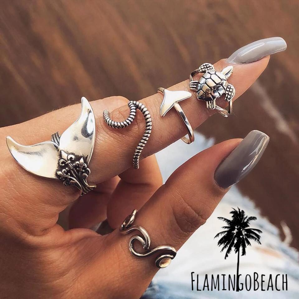 【FlamingoBeach】sea rings set リングセット