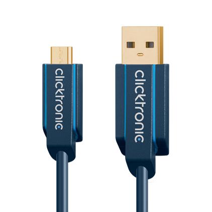 (64006)マイクロUSB 2.0ケーブル 3.0m :: Clicktronic