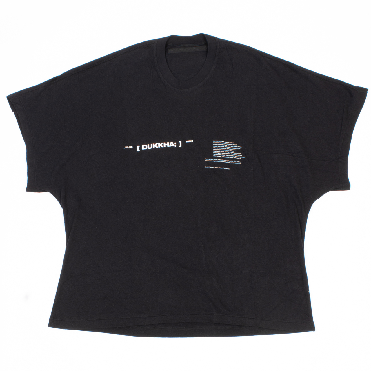 717CPM3-BLACK / ドルマンスリーブプリントTシャツ