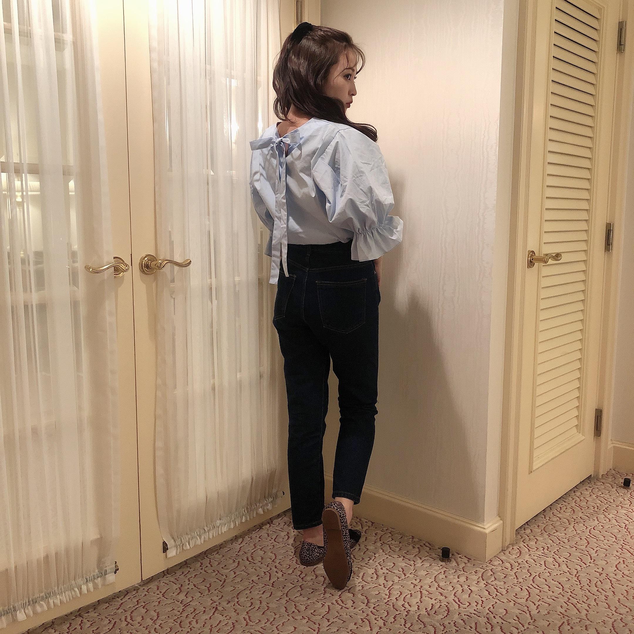 straight denim pants
