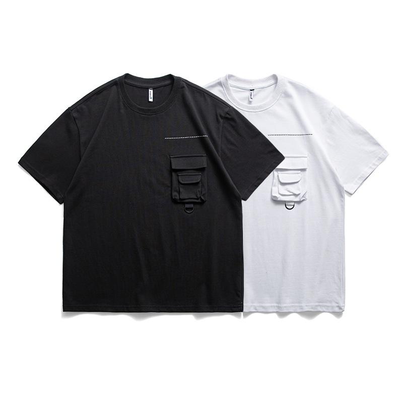 【UNISEX】ラウンドネック ワンポケット ショートスリーブ TEE 【2colors】UN-590