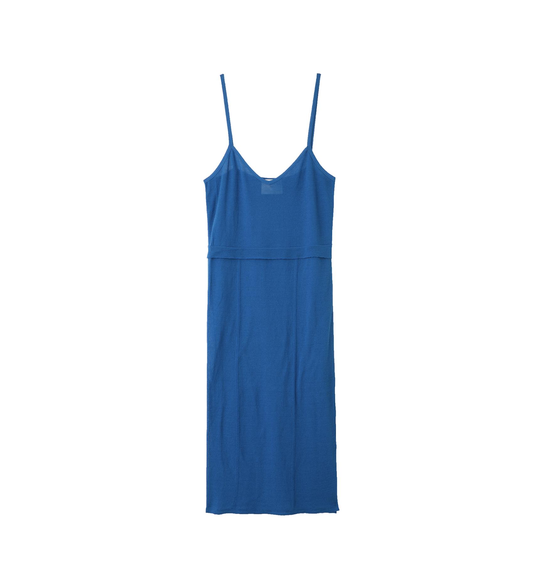sheer cotton dress blue tn18ss006 tan