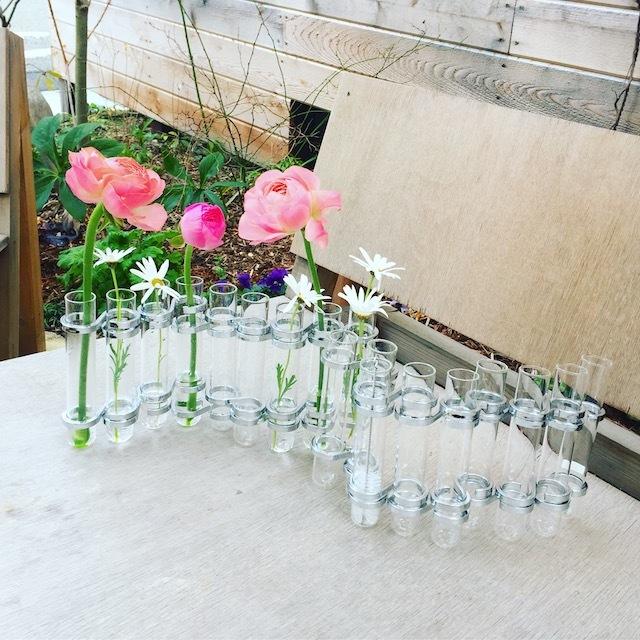 再入荷! DULTON リンクチューブベース/ silver   花瓶