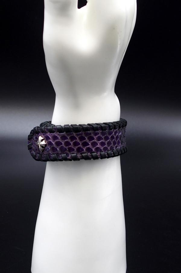 Item No.0304 :Bracelet/Diamond Python《Purple》