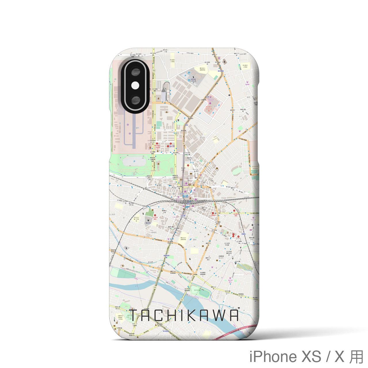 【立川】地図柄iPhoneケース(バックカバータイプ・ナチュラル)